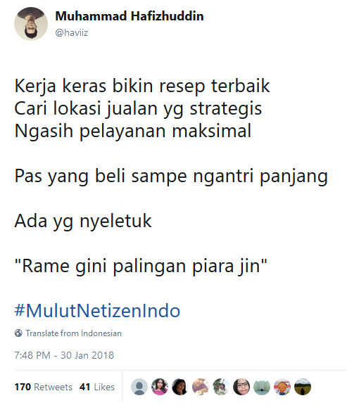 Cuma di Indonesia ada pola pikir kaya gini.