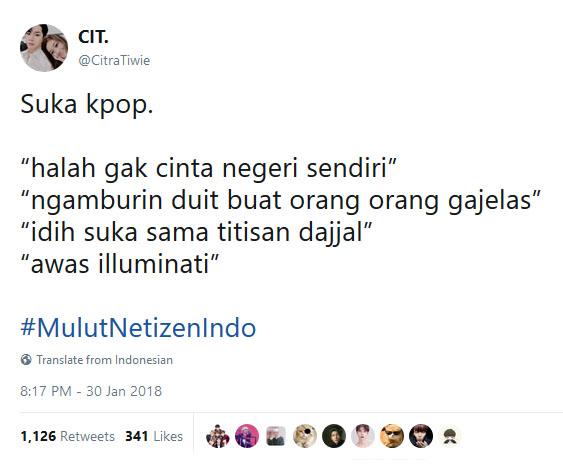 Goresan hati padlra pecunta KPOp kepada netizen yang terhormat.