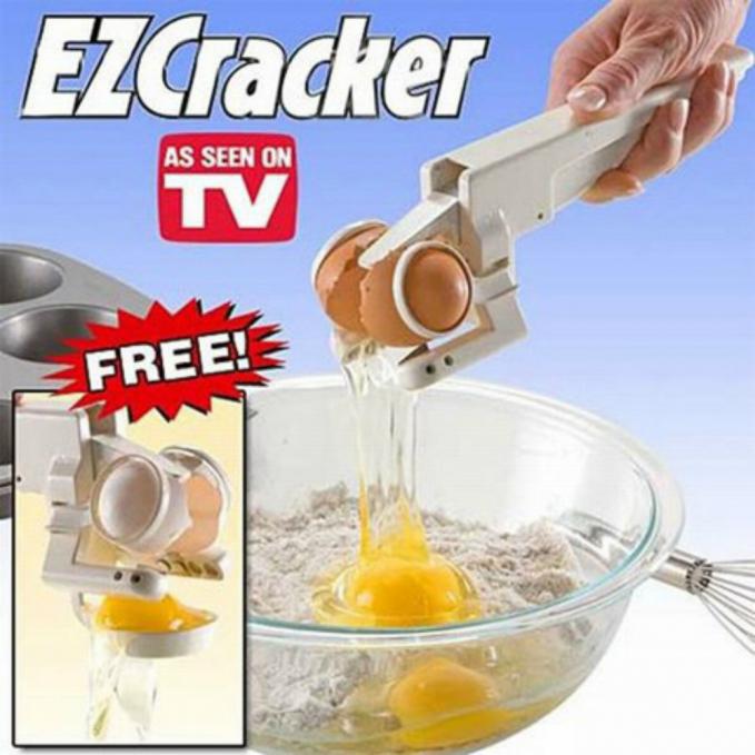 Bahkan ada alat untuk memecahkan telur lho. Bikin orang tambah malas nih.