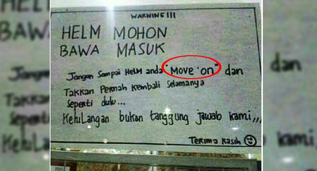 Arti Move on itu apa sama dengan kehilangan ya ?
