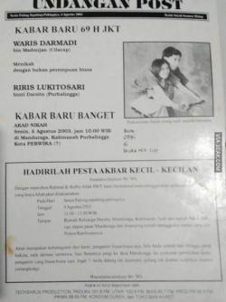 Undangan Nikahan Paling Unik dan Cuma Ada di Indonesia