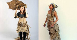 Kreatif Banget .. 15 Fashion Dari Kardus Ini Kelewat Unik