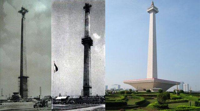 Tugu Monas Tentunya tugu yang satu ini sudah sangat familiar, karena bukan hanya menjadi ikon Kota Jakarta, tetapi juga menjadi simbol perjuangan bangsa Indonesia. Terlihat sekali perubahan tugu Monumen Nasional atau Monas yang terletak di ibukota Indonesia ini.