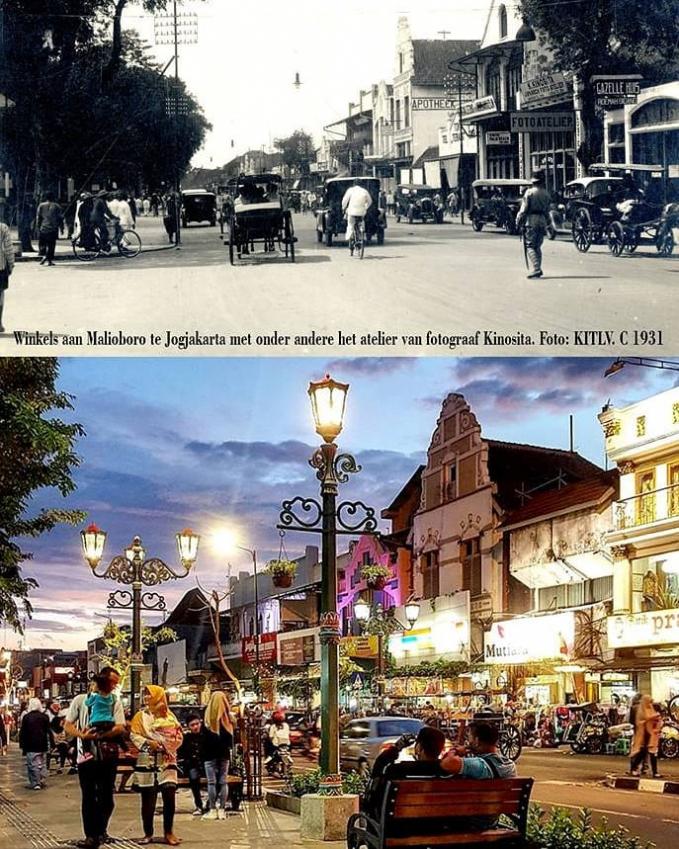 Malioboro Belum ke Jogja rasanya jika belum menginjakkan kaki di Malioboro. Ternyata pada tahun 1931 di jalan ini masih diberlakukan jalan dua arah.