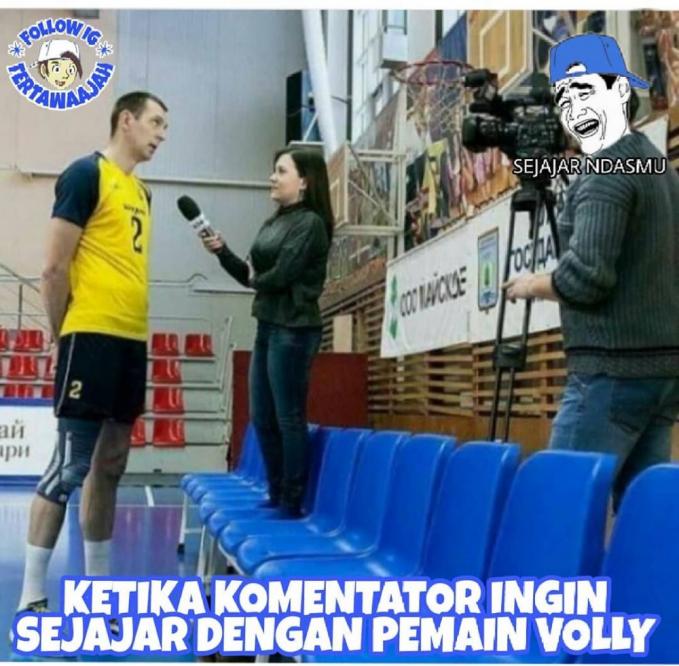 Solusi buat reporter yang lagi wawancara atlit basket :D