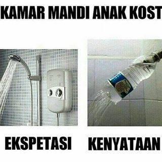 Yang penting bisa mandi pakai shower dong!