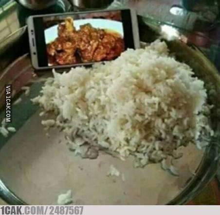 Makan nasi dengan lauk online :D