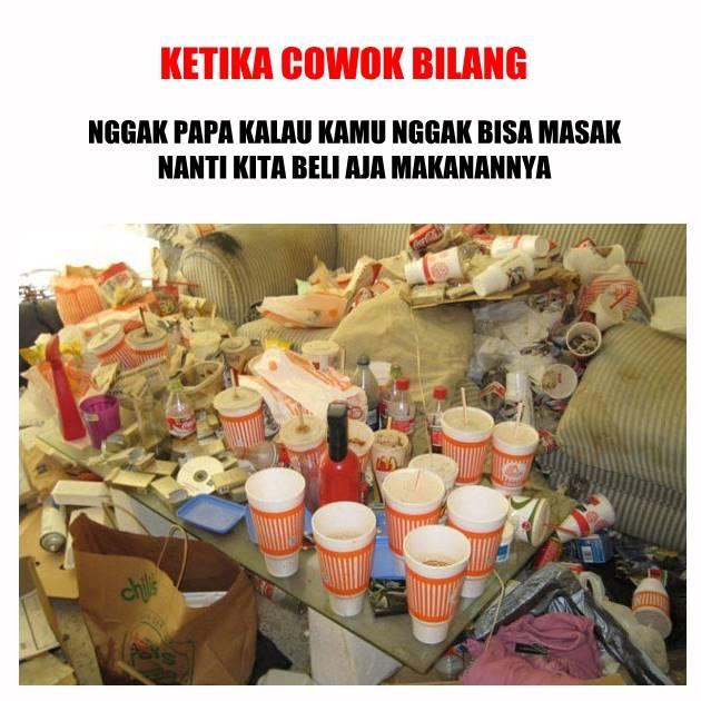 Dan inilah yang terjadi ketika kamu dan dia sering beli makanan di luar :(