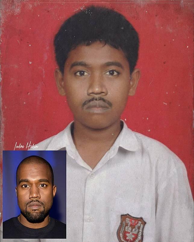 Tampang Kanye West ketika masih duduk di bangku SD.