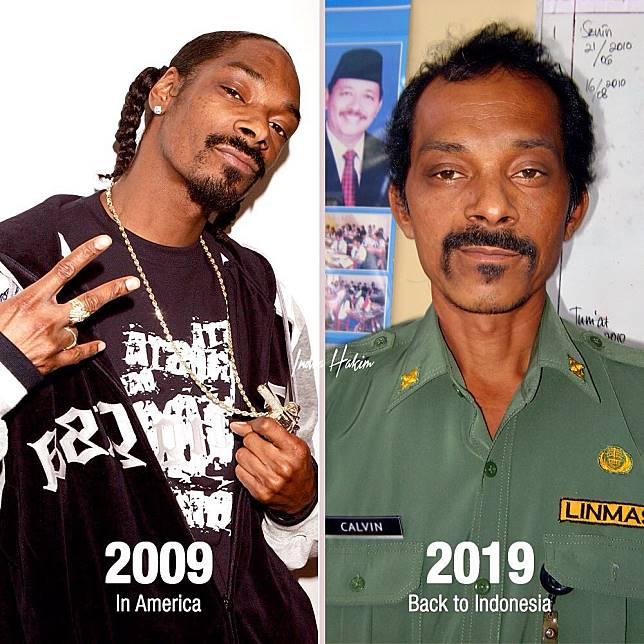 Saat Snoop Dog ikutan #tenyearschallenge.