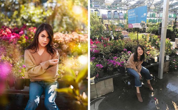 Benar-benar taman bunga yang indah, ternyata itu hanya toko bunga biasa.