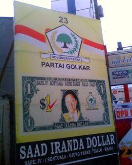 Nama yang mahal, seperti mata uang Amerika.