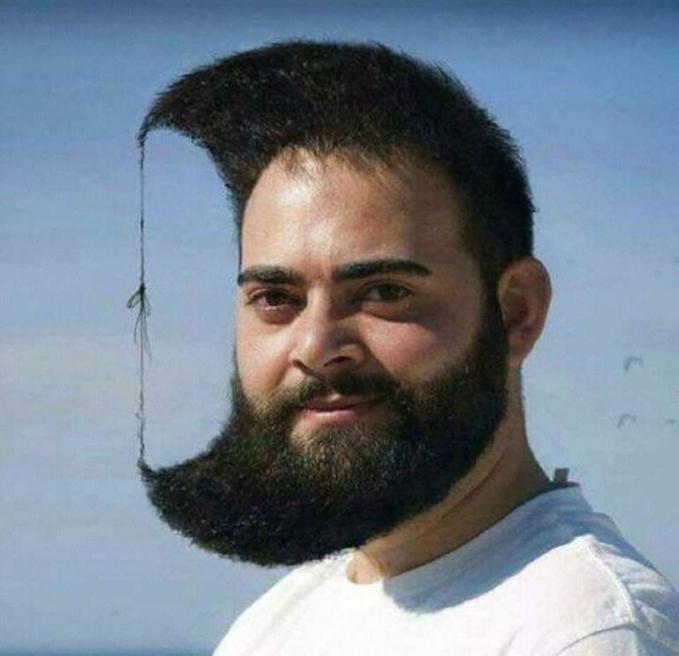 Biar apasih ujung rambut sama ujung jenggot saling ditaliin gitu? Biar apaaa?