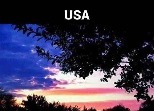 Gumpalan awan dan paduan mega di langit mengingatkan kita pada motif bendera Amerika Serikat.