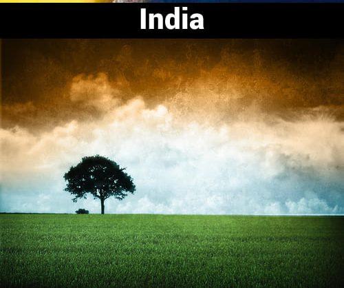 Bendera India ditengahnya ada gambar roda, tapi tak apalah tak ada roda pohon pun jadi.