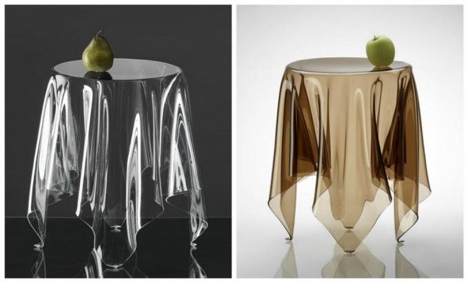Meja ini bisa membuat siapa saja bingung karena ilusi optiknya Pulsker. Dirancang oleh desainer bernama Rafa Garcia.