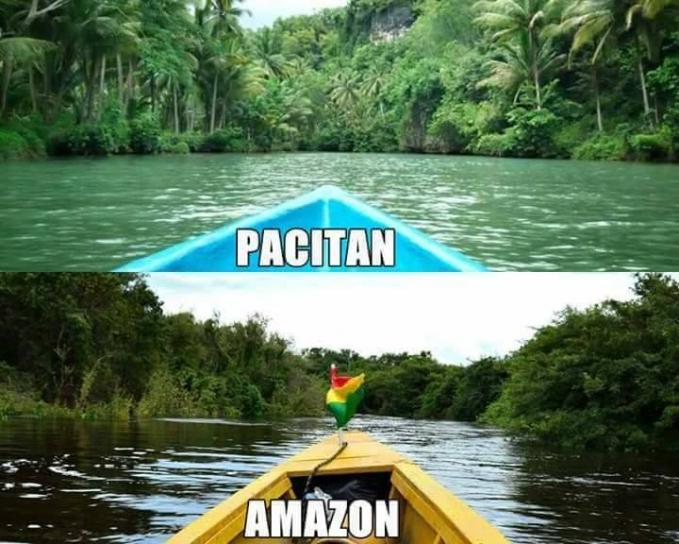 Kalau ke Sungai Amazonnya langsung di Amerika Selatan butuh duit banyak gengs. Sebagai penggantinya kalian bisa berkunjung ke Sungai Maron yang ada di kecamatan Donorojo, Pacitan, Jawa Timur.