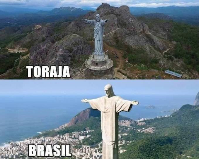 Jika di Rio de Janeiro, Brasil ada Patung Yesus yang berdiri megah di Indonesia juga punya nih. Tepatnya di Makale, Toraja, Sulawesi Selatan. Bahkan patung di Toraja ini diklaim sebagai salah satu yang tertinggi di dunia.