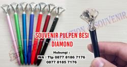 WOW Keren!!! Souvenir Pen Besi Kristal - Diamond Premium Ballpoint