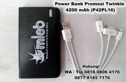 WOW Keren!!! Souvenir Power Bank 4200 mAH Cetak Logo - P42PL16