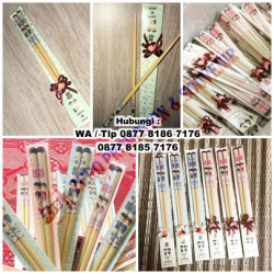 WOW Keren!!! Promosi Sumpit Kayu Custom Termurah dan Tercepat - Souvenir Sumpit Kayu
