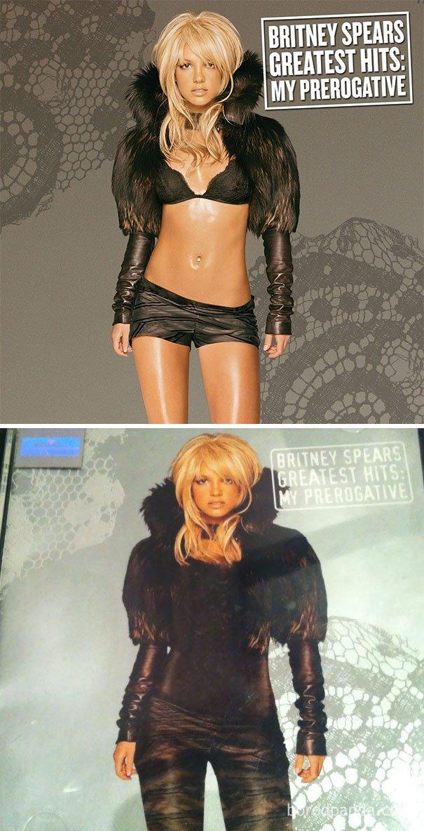 Nah tubuh Britney Spears bisa juga tertutup.