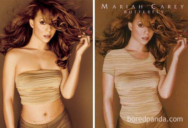 Penutup dada Mariyah Carey bisa jadi kaos.