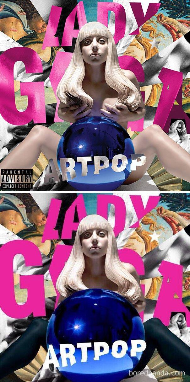 Album Lady Gaga sering kena edit tuh.