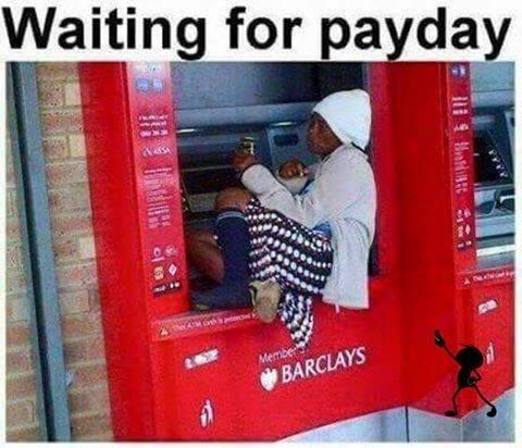 Sampe ketiduran nungguin transferan gajian di ATM
