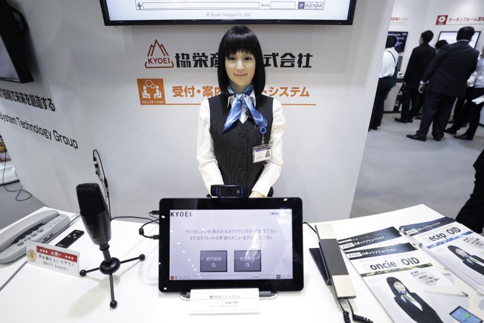 Robot Humanoid Arisa Robot ini diciptakan untuk menjadi navigator, dengan bentuk yang sempurna dan rambut sebahu, robot ini terlihat cantik banget.