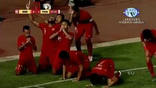 Sujud Syukur saat memenangkan pertandingan