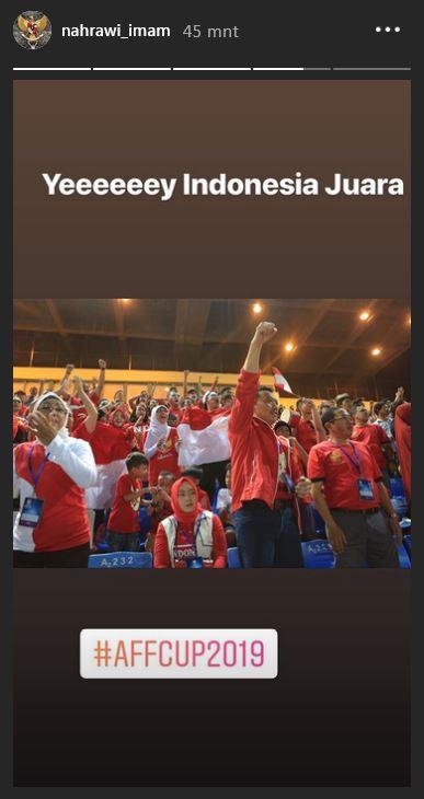 Potret Kegembiraan Menpora saat Timnas U 22 Indonesia Menang