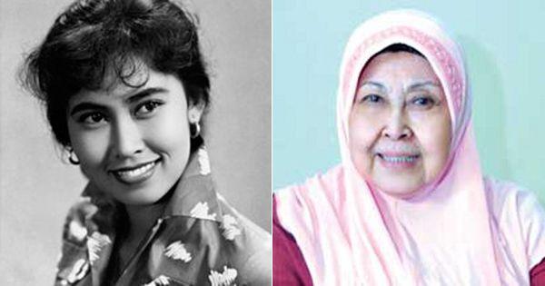 Aminah Cendrakasih Terakhir berakting dengan Benyamin saat menggarap Sinetron Si Doel Anak Sekolahan
