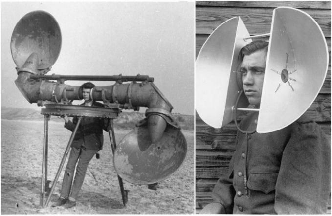 Jauh sebelum ada teknologi radar, personil militer harus mendengarkan alat ini nih untuk mendeteksi musuh yang datang. Mereka mendengarkan dengan seksama getaran dan suara pesawat dari atas bukit. Alat ini digunakan sampai awal Perang Dunia II Pulsker.