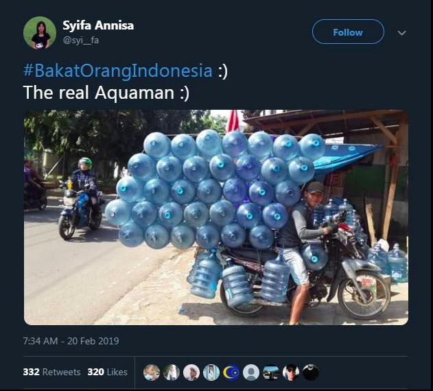 Cuma di Indonesia kamu akan melihat Aquaman dengan kearifan lokal kaya gini.