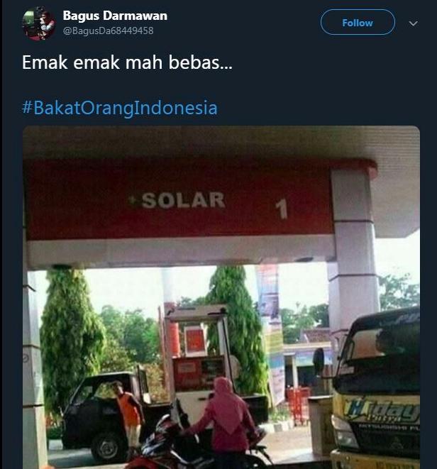 Cuma di Indonesia ada motor yang diisi pakai solar. Emak-emak mah bebass!