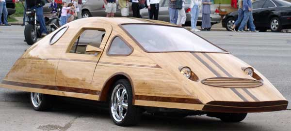 Mobil kayu yang terinspirasi dari wujud kura-kura.