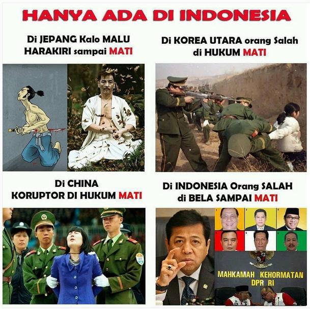7Masih ingat sama kasus papa Novanto yang membuat geger negeri ini beberapa waktu lalu?. Itulah perbandingan hal di Indonesia dan luar negeri versi warganet. Walaupun begitu Indonesia adalah negeri yang indah ya gengs.