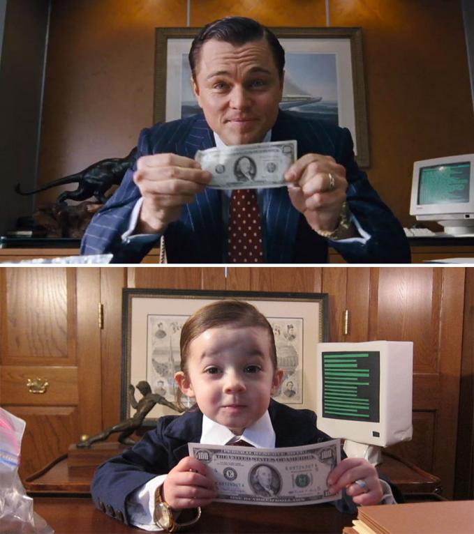 Ganteng mana nih sama Leonardo DiCaprio saat bermain di film 'Wolf of Wall Street'?.