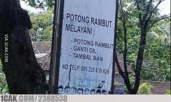 10 Papan Tempat Usaha Ini Buktikan Jika Orang Indonesia Serba Bisa