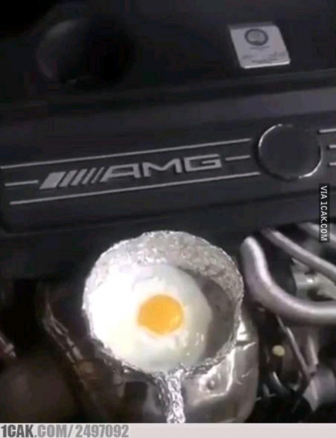 Mesin mobilpun bisa digunakan untuk memasak lo.