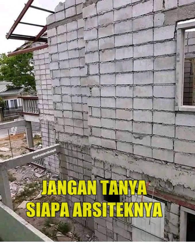 Beneran bangunan ini mau dijadikan tempat tinggal?