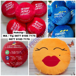 WOW Keren!!! Souvenir Bantal Bulat - Merchandise Souvenir Kantor Unik & Murah