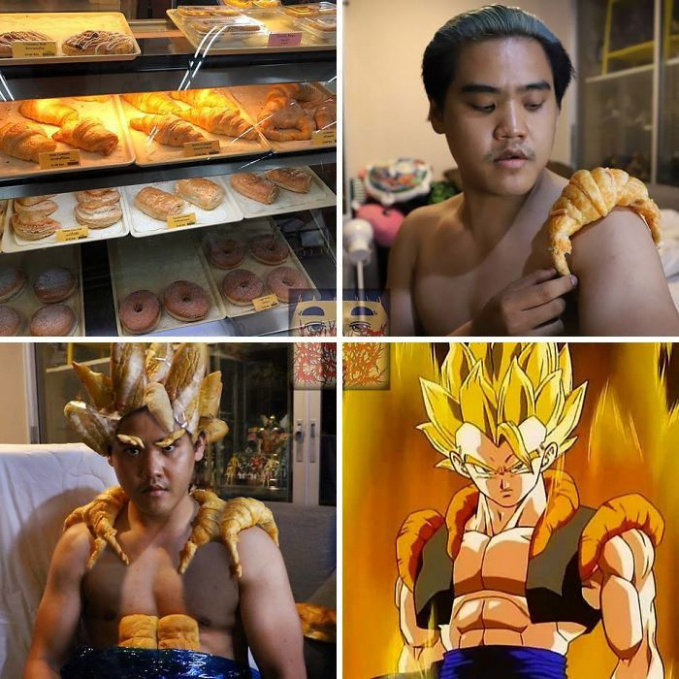 Croissant yang rasanya lezat ternyata juga bermanfaat sebagai bahan utama karakter Gohan di film Dragon Ball.