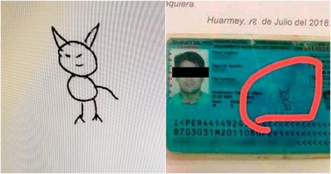 Anti ribet. Pria ini memilih gambar kucing sebagai tanda tangannya.