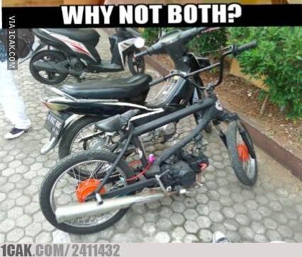 Ini baru yang namanya sepeda motor :D