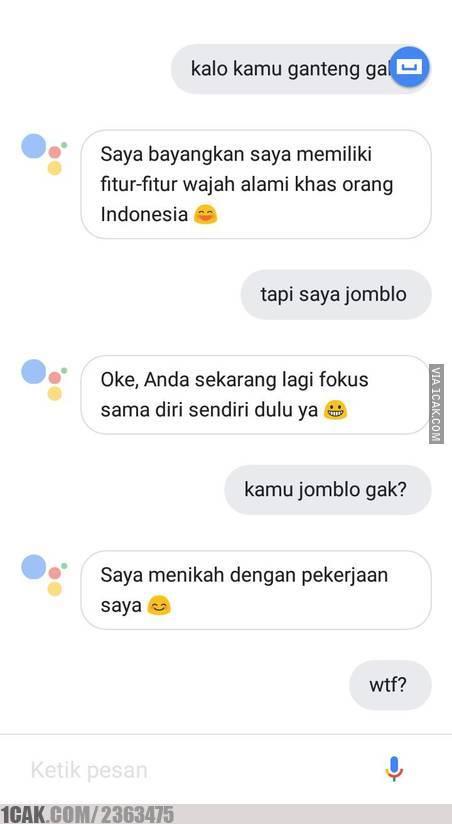 Gini nih kelakuan para jomblo, nggak punya pacar kerjaannya malah chattingan sama Google Assistant.