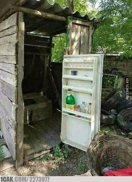 Tutup kulkas multi fungsi yang bisa juga jadi pintu kakus.