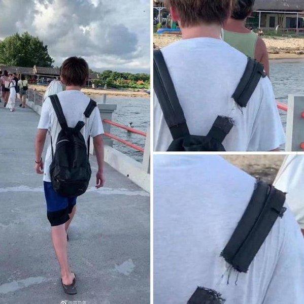 Hingga benang terakhir, pasti si adek ini sayang banget sama tasnya.