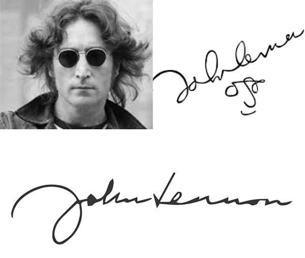 John Lennon pentolan The Beatles simpel banget namun sulit ditiru. Nah, itu dia Pulsker beberapa tanda tangan sederet musisi legendaris dunia. Mana nih yang paling keren tanda tangannya menurut kalian?.